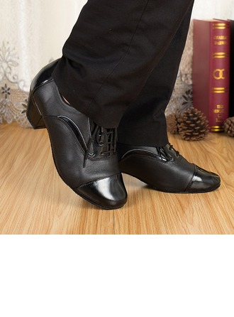 Men's Real Leather Heels Sandals Latin Dance Shoes