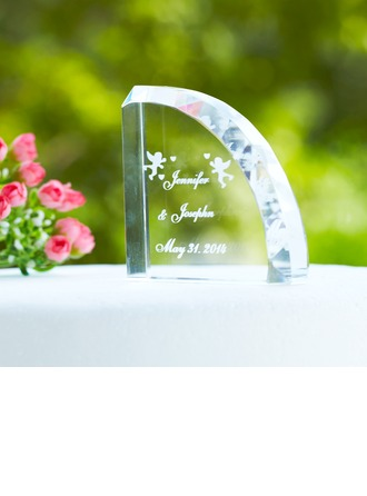 Personalized Angel Design Crystal Cake Topper