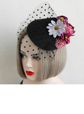 Ladies' Beautiful Spring/Autumn/Winter Cotton/Lace With Fascinators
