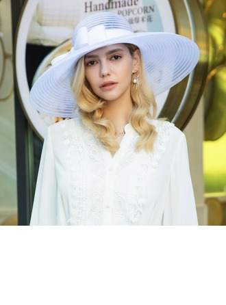Ladies' Elegant/Eye-catching/High Quality Net Yarn With Flower Beret Hats/Kentucky Derby Hats