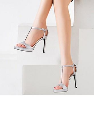 Femmes Vrai cuir Talon stiletto À bout ouvert Sandales Beach Wedding Shoes