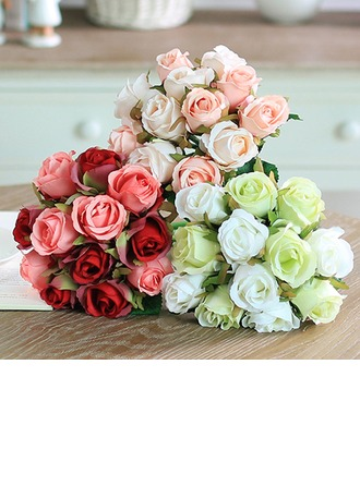 Romantic Artificial Silk Bridal Bouquets/Decorations/Wedding Table Flowers (set of 3) -