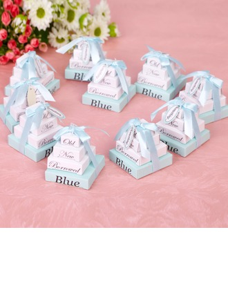 """Something Old New Borrowed And Blue"" High quality paper Note Pad With Ribbons"