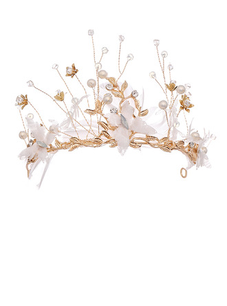 Ladies Beautiful Alloy Tiaras With Rhinestone/Venetian Pearl