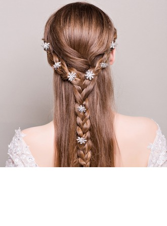 Filles Charmant Strass/Alliage épingles à cheveux (Lot de 8)