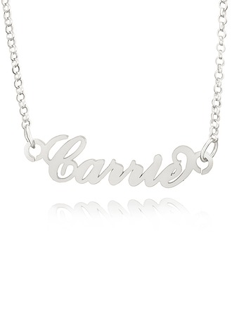 Custom Letter Carrie Name Necklace