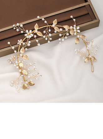 Ladies Beautiful Rhinestone/Alloy/Imitation Pearls Hairpins With Rhinestone/Venetian Pearl (Sold in single piece)