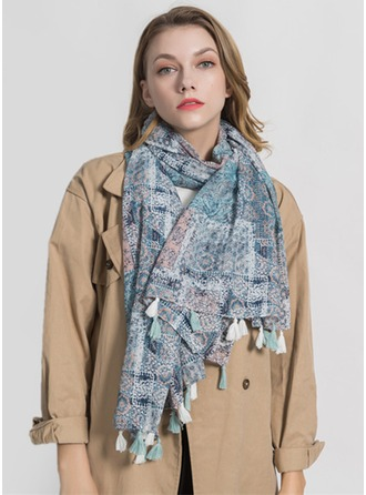 Geometric Print Light Weight/Oversized Polyester Scarf