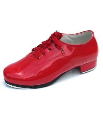 Women's Kids' Patent Leather Heels Tap With Lace-up Dance Shoes