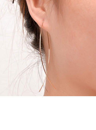 Ladies' Simple Copper Earrings For Friends/For Her