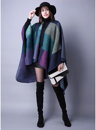 Color Block Oversized/Sjaler Ponchos
