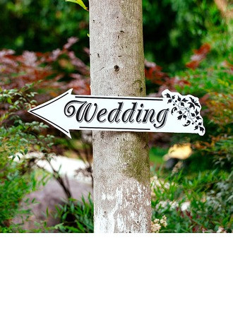 Attraktiv Klassisk stil Tre Wedding Sign