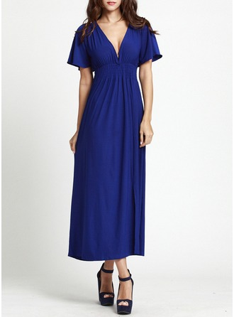 Spandex/Viscose With Stitching Midi Dress