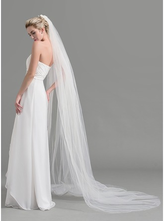 Two-tier Cut Edge Chapel Bridal Veils
