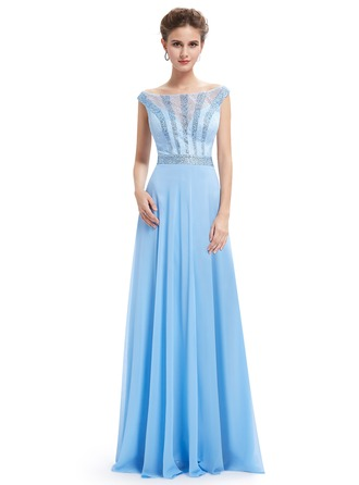 Polyester/Lace/Satin/Tulle/Silk Blend With Maxi Dress