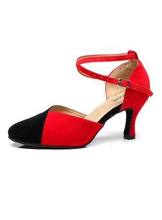 Women's Suede Heels Ballroom Dance Shoes