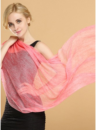 Solid Color Light Weight/simple Silk Scarf