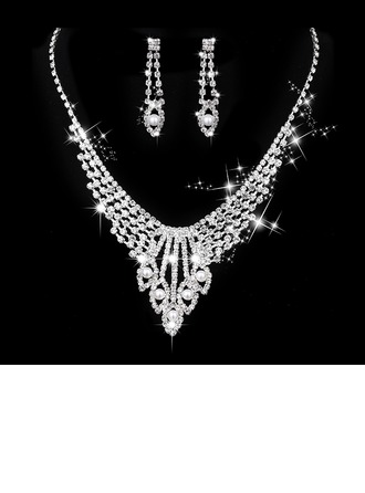 Beautiful Alloy/Copper With Rhinestone/Imitation Pearls Ladies' Jewelry Sets