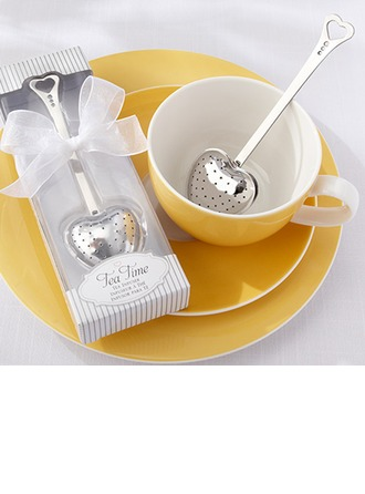 """""""Tea Time"""" Heart Shaped Stainless Steel Tea Infuser"""