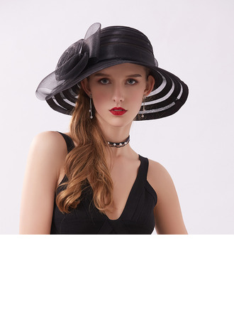 Ladies' Classic/Pretty Satin With Flower Beach/Sun Hats/Kentucky Derby Hats/Tea Party Hats