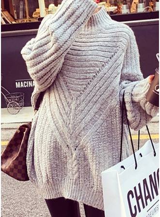 Cotton Turtleneck Cable-knit Sweater