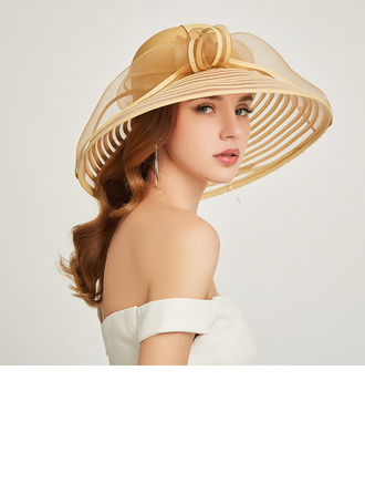 Ladies' Classic/Simple Papyrus With Feather Beach/Sun Hats/Kentucky Derby Hats/Tea Party Hats