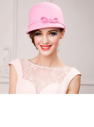 Ladies' Beautiful Autumn/Winter Wool With Bowler/Cloche Hat