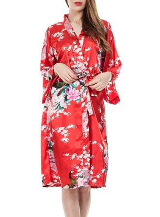 Polyester Bride Bridesmaid Mom Floral Robes