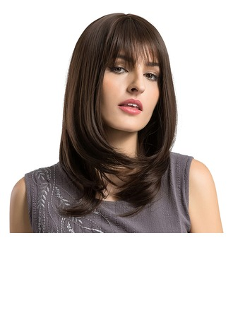 Straight Synthetic Hair Capless Wigs 310g
