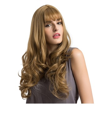 Loose Wavy Synthetic Hair Capless Wigs 380g