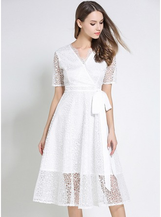 Lace With Lace Midi Dress
