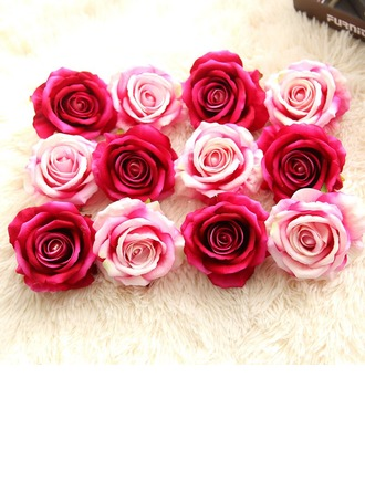 Rose Silk Silk Flowers (Set of 10)