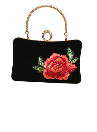 Elegant Velvet Clutches/Top Handle Bags/Evening Bags
