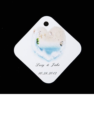 Personalized Beach Themed Hard Card Paper Tags