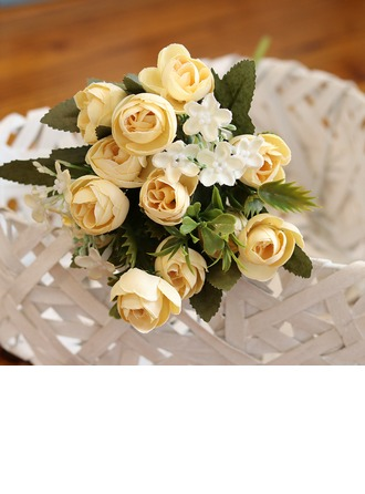 "11.81""(Approx.30cm) Rose Silk Bouquets"