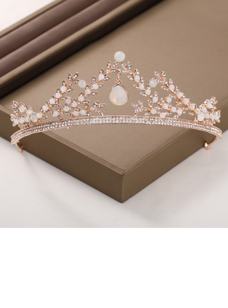 Ladies Beautiful Rhinestone/Alloy/Imitation Pearls Tiaras With Rhinestone/Venetian Pearl (Sold in single piece)