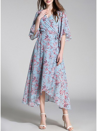 Chiffong med Print Maxi Kle (To deler )