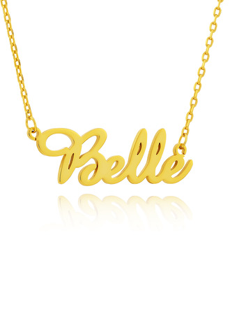 Custom 18k Gold Plated Cursive Script Name Necklace - Birthday Gifts Mother's Day Gifts