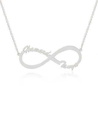 Custom Sterling Silver Infinity Two Name Necklace Infinity Name Necklace
