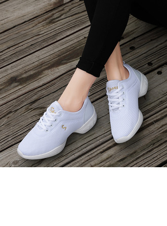Women's Fabric Sneakers Modern Jazz Sneakers With Lace-up Dance Shoes