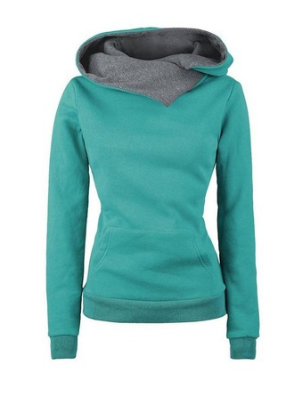 Plain Cotton Blends Sweatshirt ()