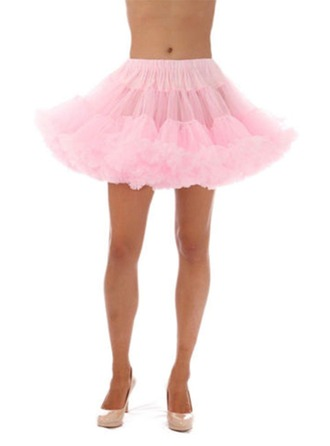 Women Tulle Netting/Satin Short-length 1 Tiers Bustle