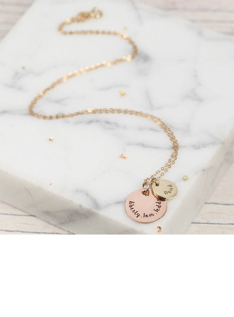 Personalized Ladies' Chic 925 Sterling Silver Name/Engraved/Bar Necklaces For Bridesmaid/For Mother/For Friends