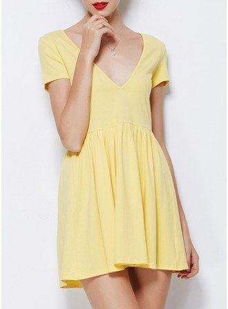 Polyester/Cotton Mini Dress