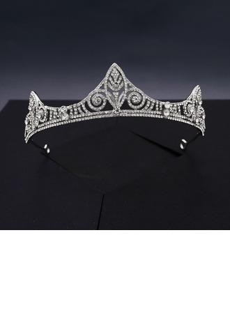 Damer Elegant Rhinestone/Legering Tiaraer med Rhinestone (Selges i ett stykke)