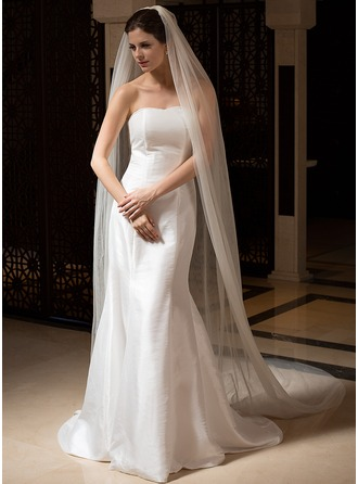 Two-tier Cut Edge Cathedral Bridal Veils
