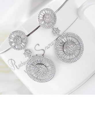 Chic Alliage Zircon de Dames Boucles d'oreille de mode