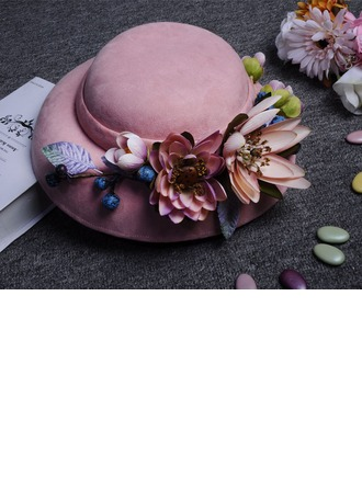Ladies' Beautiful/Gorgeous/Fashion/Special Velvet With Flower Beach/Sun Hats