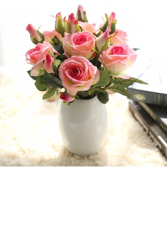 14.5'' Rose Silk Bouquets (Set of 3)
