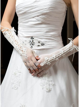Tulle Elbow Length Party/Fashion Gloves/Bridal Gloves